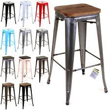 SET OF 4 TOLIX STYLE RUSTIC VINTAGE METAL BAR STOOL DESIGN KITCHEN DINING SEAT