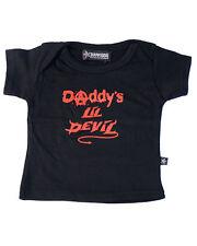Darkside Clothing Daddy's Lil Devil Horns Baby Toddler Halloween Costume Tshirt