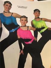Dance Costume Jazz Tap Disco fringe jumpsuit showstopper
