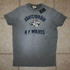NWT Abercrombie Boys Medium XL Wolves T-Shirt