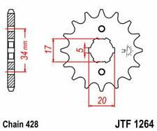 F126417: JT SPROCKETS Piñon JT 1264 de acero con 17 dientes