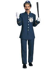 Mens Bobby Cop Keystone Blue Uniform Halloween Costume