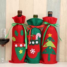 Christmas Santa Wine Bottle Gift Bag Ornaments Cover Xmas Home Party Decor Cheap