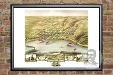 Old Map of Stillwater, MN from 1870 - Vintage Minnesota Art, Historic Decor