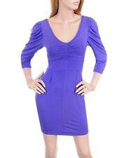 New Day/Evening Sleeve V Neckline Dress Purple S M L