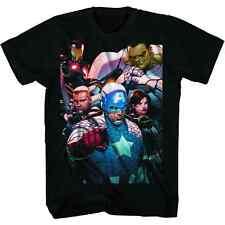 Marvel Avengers Mcniven Mens Black T-Shirt