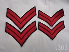 2 x British Military Royal Navy Chevrons / Service Stripes, Red on Blue
