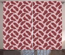 Arabesque Feather Curtains 2 Panel Set Decoration 5 Sizes Window Drapes