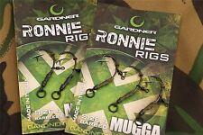 Gardner Tackle Ready Tied Ronnie Rigs / Mugga Hooks / Carp Fishing