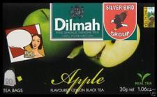 1/2/3 x 20 bustina del tè Dilmah Apple flavoured black Fun Tea Ceylon Tè MELA