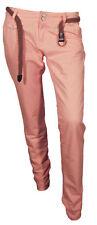 Only Pantalone Jeans Casual Rosa Donna 100% Cotone Taglia Comoda Leggero 42 - 46
