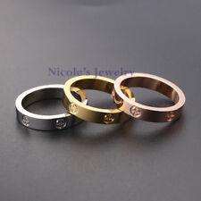 Fashion TITANIUM Stainless Steel Polish Screw Wedding Band Ring