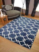 New Dark Navy Blue Link Modern Small Extra Large Floor Rugs Long Hall Runner Mat