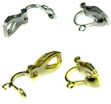 10 x (5 PAIRS) CLIP ON Earrings w LOOP DIY Findings Jewellery Making Copper