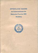Öffentliche Tagung Kreisausschuss Annaberg Nationale Fr