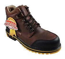 ESTABLO Mens Work Boots Style 509 Leather Crazy Mango//Black