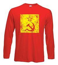HAMMER & SICKLE T-SHIRT - CCCP Soviet Russia Communist USSR KGB Political