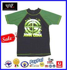 GENUINE AUS-WWE RAW Wrestling John Cena Boys Summer Rashie/Rash Vest UV50+-SALE
