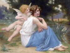 Cupid And Psyche by G. Seignac angel Tile Mural Kitchen Backsplash Ceramic 10x8