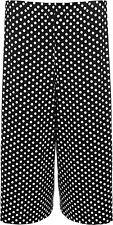 New Womens Plus Size Wide Leg Polka Dot Spot Print Shorts 16-26