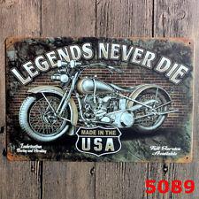 Retro Moto étain métal signe affiche Plaque Bar Pub Publicitaire mur maison Deco