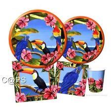 Toucan Hibiscus..Napkins...Plates...Cups Hawaiian..Tropical..Luau Cocktail Party