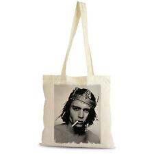 Johny Depp King Crown Sac Tote Shopping Bag, naturel, coton beige, cadeau
