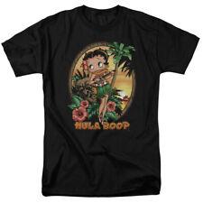 Betty Boop Hawaii Hula Boop Two Retro Cartoon T-Shirt Tee