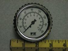 F & R Watts 160 psi panel mount pressure gauge bar 11 pneumatic air
