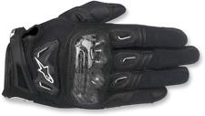 Mens Alpinestars Leather Black SMK-2 v2 Motorcycle Riding Street Racing Gloves