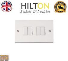 HILTON Light Switch White Plastic 4Gang 2Way 10Amp ***Best Quality***