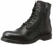 Replay Phim nera in pelle da uomo Mid alla caviglia stivali dell'esercito