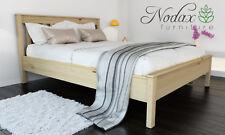 *NODAX* Wooden Pine King Size Bed 5ft Wooden Bed frame&Slats 'F17'