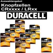 Duracell Knopfzelle 3V-Batterie CR2032 CR1620 CR2025 CR2016 CR1616 CR1220