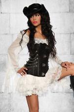 Piratas vestido/long-blusa vestido góticos steampunk blanco o negro