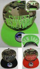 NEW YORK SNAPBACK Hat Flatbill Hip Hop Fashion Cap Camo Camouflage NY Hats