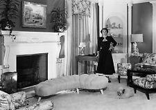 Art Print POSTER / CANVAS Joan Crawford Admiring Her Living Room