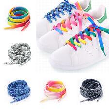 Rainbow Gradient Printed Shoelaces Pattern Colored Shoe Laces Flat Shoelaces