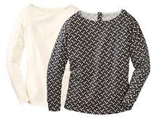 2 Esmara Damen Langarm Shirt Shirts Creme & Alloverprint S 36/38 & M 40/42 2-tlg