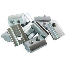 10x Nutenstein schwer Nut 8 - Typ I - mit Steg, Federkugel, Stahl verzinkt
