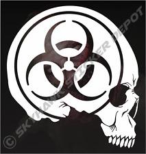 Biohazard Skull Sticker Vinyl Decal Zombie Sticker For Car Truck Motorcycle SUV