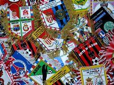 Divers fanions signés joueurs signed ASM FC OM OL PSG ASSE REAL ... pennant