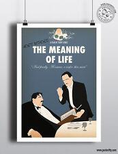 Monty PYTHON significato della vita-minimalista movie poster film minimo posteritty