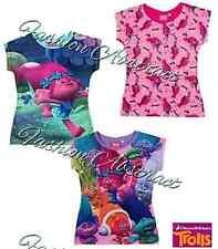 Trolls Poppy Branch Girls Official DreamWorks  T Shirt Top Age 4-12