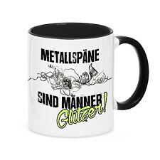 TAZZA di caffè Tazza trucioli metallici GLITTER Uomo maschinebau TORNIO siviwonder