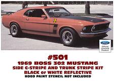 501 1969 BOSS 302 MUSTANG - STRIPE C-STRIPE KIT - REFLECTIVE