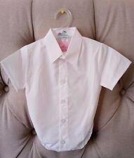 Baby Boy White Smart Shirt Formal Bodysuit Body Shirt Summer Short Sleeve 0-18m