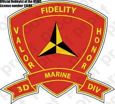 STICKER U.S. 3rd Marine Division Emblem