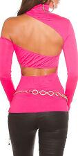 Heißes Rollkragen-Shirt mit sexy Rücken-Cutouts