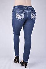 NWT AMETHYST Plus size Stetch denim Skinny jeans DARK indigo denim wash  WG-8-X